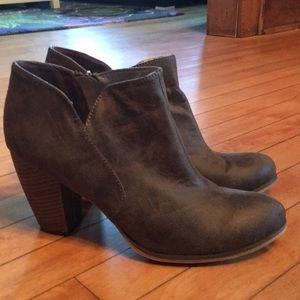 Olive green booties size 11